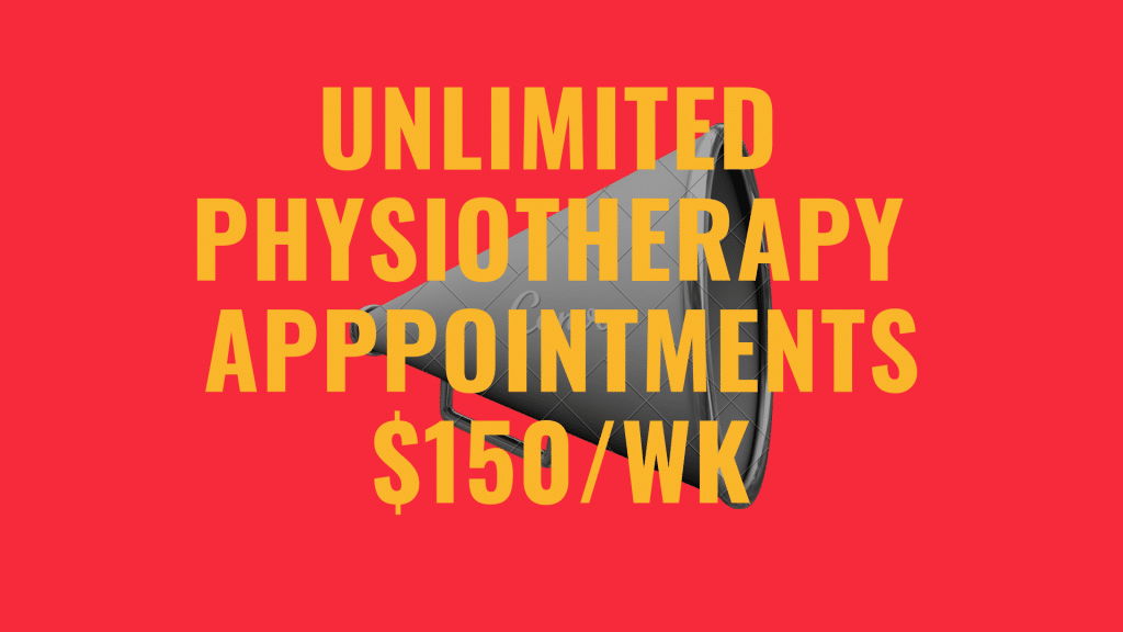 unlimited physio, physiotherapy, appointments, dry needling, massage, exercise rehabilitation
