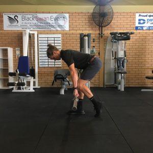 split stance hip hinge